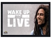Black Wooden Framed Wake Up And Live Bob Marley