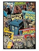 Gloss Black Framed Doctor Who Comic Montage Doctor Who
