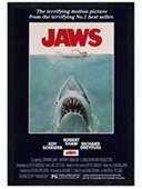 Black Wooden Framed Steven Spielberg's Jaws Jaws