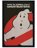 Black Wooden Framed Who Ya Gonna Call? Ghostbusters