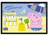 Black Wooden Framed Holidaying In Spain Peppa Pig