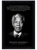 Black Wooden Framed Commemoration Nelson Mandela