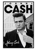 Gloss Black Framed A Young Man in Black Johnny Cash