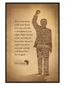 Gloss Black Framed Silhouette Nelson Mandela