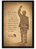 Black Wooden Framed Silhouette Nelson Mandela