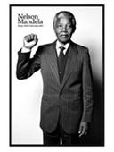 Gloss Black Framed Salute Nelson Mandela