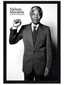 Black Wooden Framed Salute Nelson Mandela