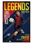 Gloss Black Framed Legends Aren't Born Messi