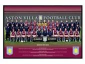 Gloss Black Framed Aston Villa Team Photo 2013/14 Aston Villa