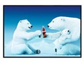 Gloss Black Framed Polar Bear Trio Coca Cola