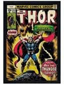 Black Wooden Framed The Day The Thunder Failed! Thor