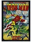 Black Wooden Framed Night Walk! The Invincible Iron Man