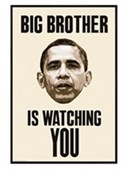 Gloss Black Framed Big Brother Is Watching You Obama