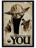 Black Wooden Framed May The Force Be With You Star Wars