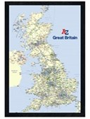 Black Wooden Framed The A-Z of Great Britain Geographers' A-Z Map Company Poster