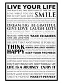 Gloss Black Framed Dream Big Live Your Life