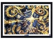 Black Wooden Framed Exploding Tardis Dr Who