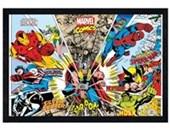 Black Wooden Framed Character Kaleidescope Marvel Comics
