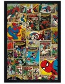 Black Wooden Framed The Amazing Spider-Man Comic Collage Marvel Comics