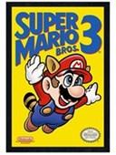 Black Wooden Framed Super Mario Bros 3 Retro Gaming