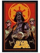 Black Wooden Framed Fly For The Glory Of The Empire Star Wars