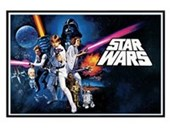 Gloss Black Framed A New Hope Star Wars