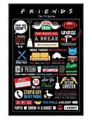 Gloss Black Framed Friends Infographic Comedy TV Series