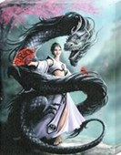 Dragon Dancer Canvas Print Anne Stokes