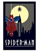 Gloss Black Framed Spider-Man Marvel Deco