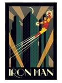 Gloss Black Framed Iron Man Marvel Deco