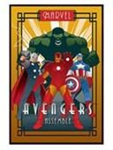Gloss Black Framed Avengers Assemble Marvel Deco