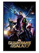 Gloss Black Framed Guardians Of The Galaxy Marvel