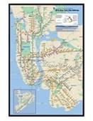 Gloss Black Framed New York Subway Marvelous Maps