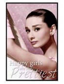 Gloss Black Framed Happy Girls Are The Prettiest Audrey Hepburn