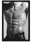 Black Wooden Framed Tantalising Torso Black and White