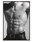 Gloss Black Framed Tantalising Torso Abs