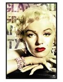 Gloss Black Framed Glamour Marilyn Monroe