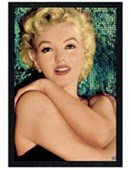 Black Wooden Framed Unspoilt Beauty Marilyn Monroe