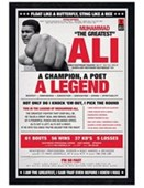 Black Wooden Framed A Champion, A Poet, A Legend Muhammad Ali