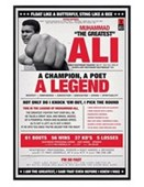 Gloss Black Framed A Champion, A Poet, A Legend Muhammad Ali
