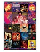 Gloss Black Framed Album Cover Collage Jimi Hendrix