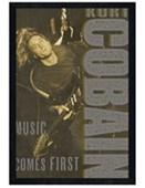 Black Wooden Framed Music Comes First Kurt Cobain