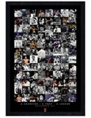 Black Wooden Framed Boxing Legend Compilation Muhammad Ali