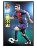 Gloss Black Framed Lionel Messi FC Barcelona