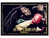 Black Wooden Framed Get Up, Stand Up Bob Marley