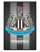 Gloss Black Framed The Magpies Club Crest Newcastle United FC