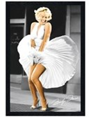 Black Wooden Framed Seven Year Itch Marilyn Monroe