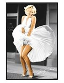 Gloss Black Framed Seven Year Itch Marilyn Monroe
