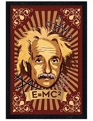 Black Wooden Framed E = MC Squared Albert Einstein