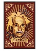 Gloss Black Framed E = MC Squared Albert Einstein Mural